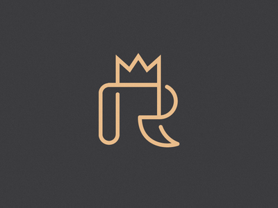 Royal crown r logo identity branding type typography lettering initial