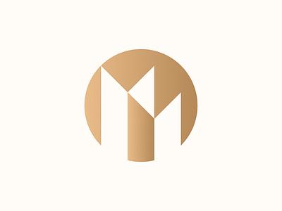 MM geometric branding identity print logo typography type lettering round foil monogram mm