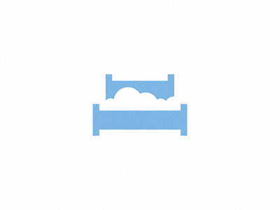 Cloud Bed mattress cloud bed logo branding identity sky mark michael spitz michaelspitz minimal