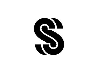 SS Monogram lettering typography type black and white monogram branding identity logo ss