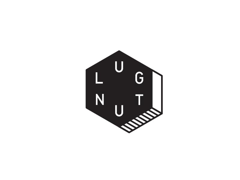 LUG NUT lug nut typography type machining bolt mark tool branding identity logo