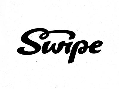 Swipe logotype logo branding identity script typography lettering ligature hand lettering wordmark michael spitz michaelspitz