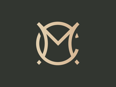 MC lettering typography type logo mark cm mc branding identity logo monogram