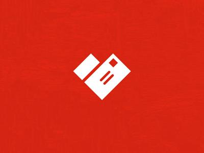 'Heart' Logo Study heart mail logo letter red white identity michael spitz michaelspitz mark