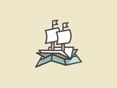 Nautical Knowledge V2 boat ship book chart map waves ocean education logo branding identity atlas mark shadow nautical monoweight michael spitz michaelspitz