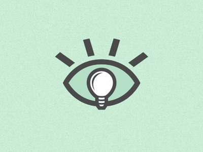 Eye Bulb logo identity eye lightbulb invention idea marketing bulb mark branding