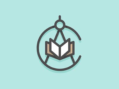 CA - Nautical Charting logo identity branding monogram ca book education compass navigation sailing water chart monoweight michael spitz michaelspitz