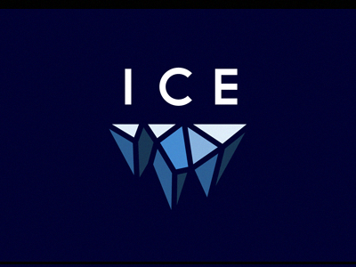 ICE ice logo branding identity faceted cold blue michael spitz michaelspitz