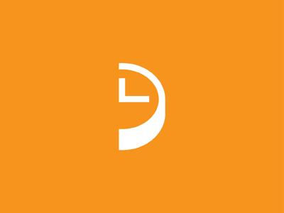LD clock logo time monogram logomark mark identity branding ld michael spitz michaelspitz