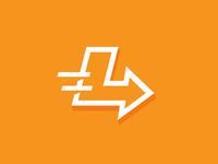 L l arrow sign logo branding identity mark live