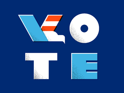 VOTE elections eagle usa midterms govote vote lettering type typography