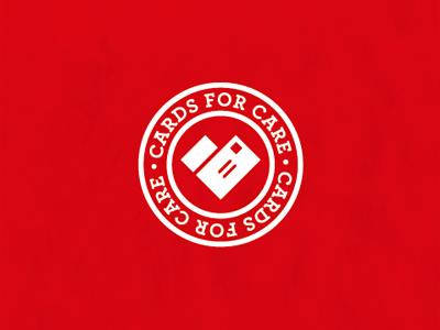 Cards For Care logo heart letter mail branding identity stamp postmark michael spitz michaelspitz