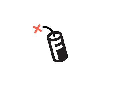 Fuse logo design f dynamite black and white identity branding logo fuse