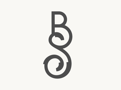 Botanical Monogram floral botanical monogram lettering branding logo identity bs