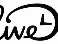 D Clock script custom type d ligature logotype branding identity clock hands time type typography hand lettering black and white
