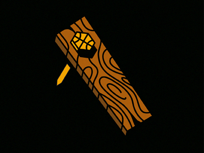 Don't Mess With Pittsburgh... illustration 2x4 nail basketball wood pittsburgh workers technical foul