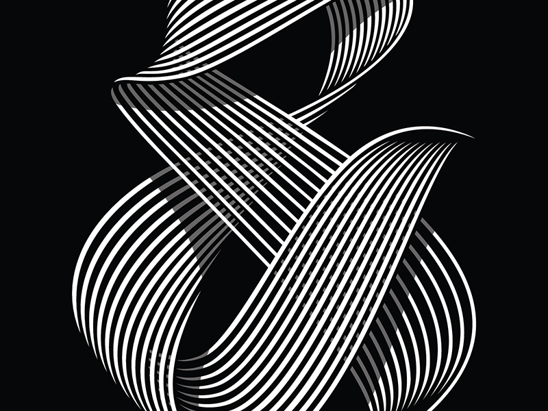 & michaelspitz michael spitz black and white shadows shading typography type lettering ampersand