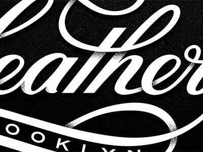 Heather Script : Progress Update logotype script identity branding shading custom type type typography ligature brooklyn logo ny hand lettering michael spitz michaelspitz black and white