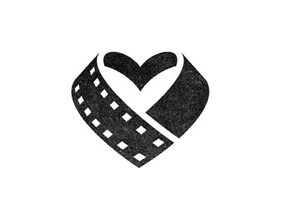 Charitable Filmaking : Mark Update 3 logo mark branding identity heart film filmmaking film strip charity black and white michael spitz michaelspitz