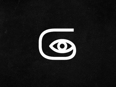GI eye g monogram i logo branding identity mark michael spitz michaelspitz black and white