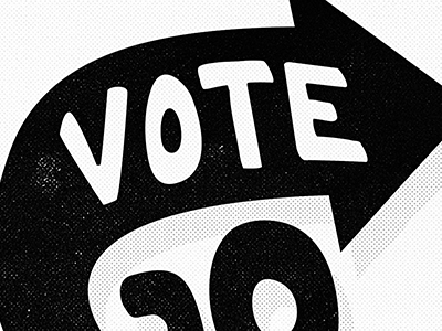 #GOVOTE govote hash tag voting vote election 2012 type typography lettering michael spitz michaelspitz black and white custom type