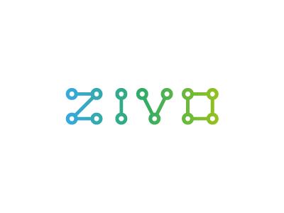 ZIVO logotype custom type logo typography lettering engineering molecules bio eco identity wordmark michael spitz michaelspitz