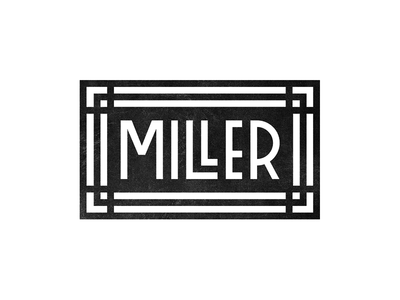 MILLER michael spitz michaelspitz logo identity branding lettering custom type type typography furniture cabinetry woodworking wood logotype black and white