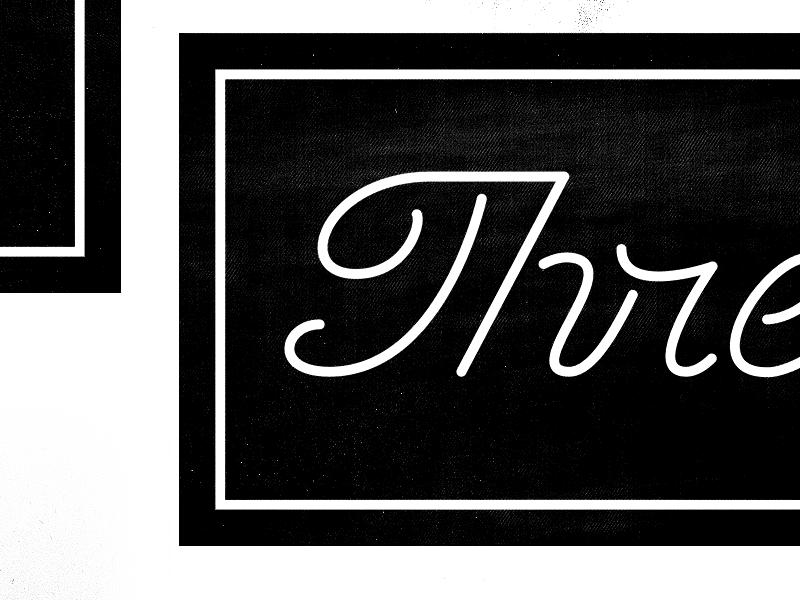 Mono Script monoline script type typography identity branding custom type ligature tag