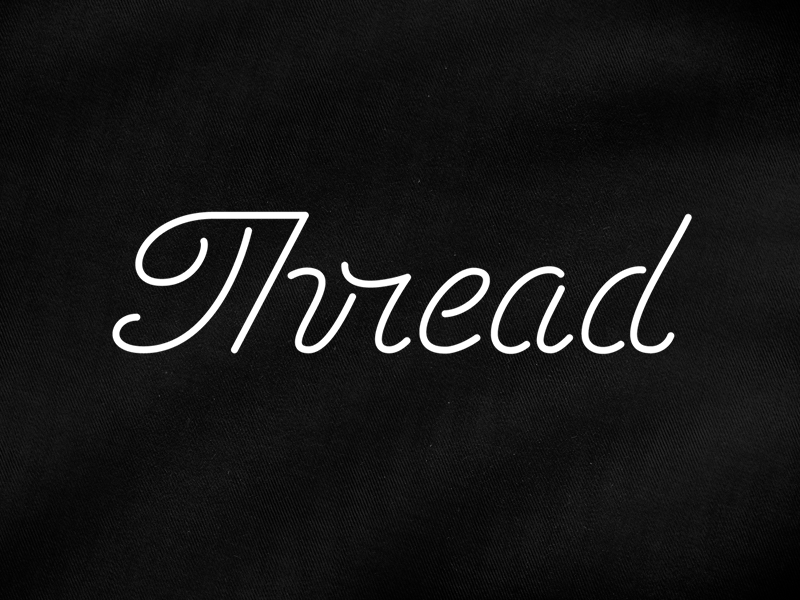 Thread Script monoweight michael spitz michaelspitz custom type type typography branding identity logotype logo fashion black and white thread string script mono line