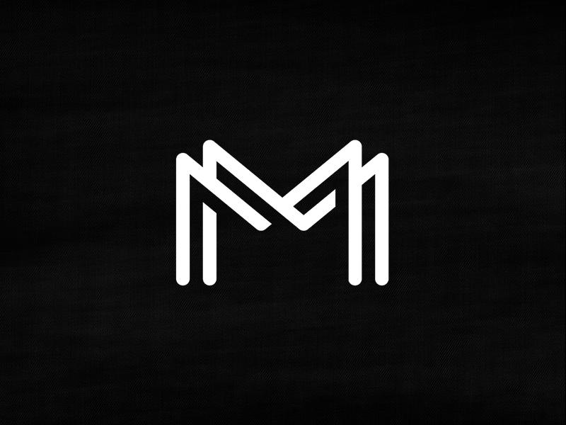MMonogram michael spitz michaelspitz type typography black and white custom type monogram lettering letters overlap shadow logo branding identity mm
