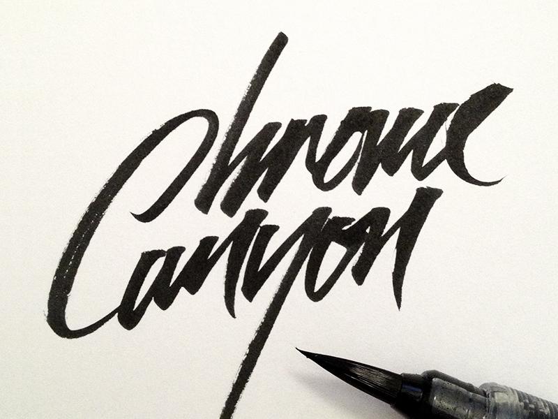 Chrome Canyon michael spitz michaelspitz pentel brush brush pen lettering calligraphy script hand drawn hand lettering logo logotype identity branding music