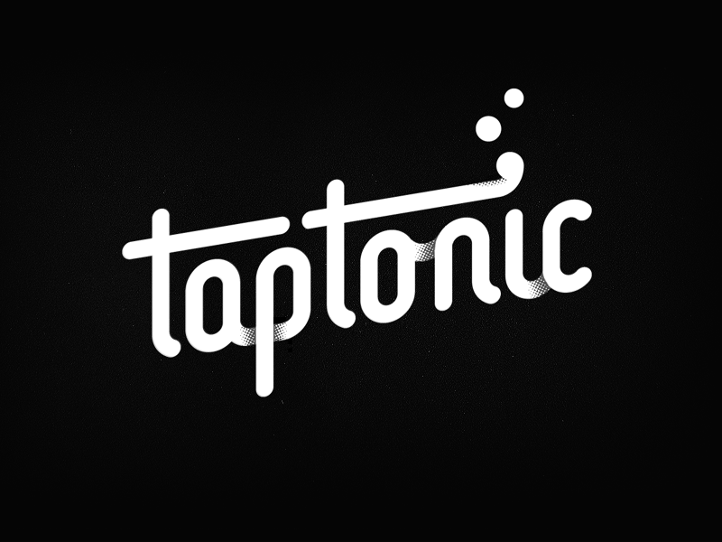 taptonic michael spitz michaelspitz logotype gaming branding logo identity word mark custom type typography lettering tonic bubbles tap black and white