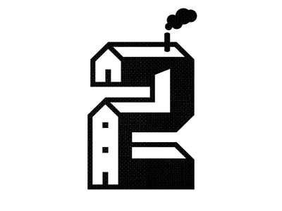 2 building architecture number structure type typography custom type numbers print collab lettering illustration