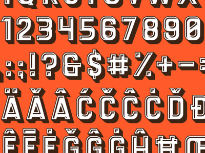 Coffee Pot : Progress type typography font lettering titling glyphs typeface retro display type specimen characters letters numbers diacritics latin numerals wip