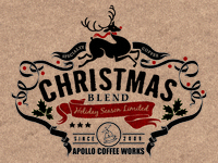 Apollo Coffee Works Christmas Label