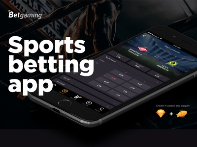 Betgaming - sports betting app dark android ios sports gambling betting