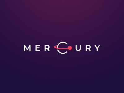 Mercury space development planet branding design minimal clean dark logo