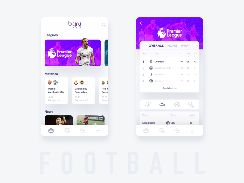 Beinsports Redesign by Memduh on Dribbble
