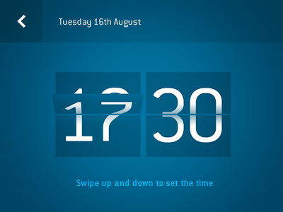 LinkUp - Setting time ios app iphone iphone app clock timer time