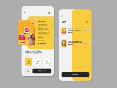 Pet food shopping app
