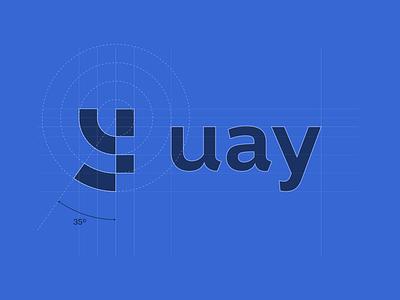 UAY - Logo design grid structure visual identity y logo y design grid design agency logo designer branding design brand identity branding identity smart logo logo design