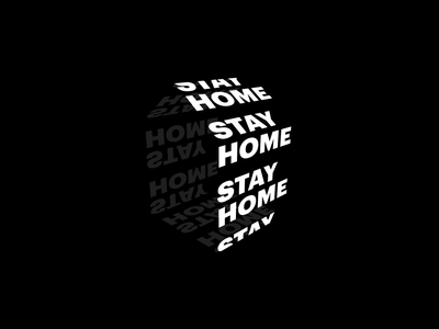 Stay home vector design icon seamless seamless loop typography type motion design stay safe be safe quarantine animation 3d typography 3d animation house home stay home stayhome