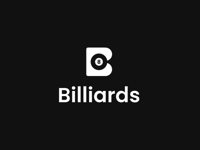 Billiards Logo Animation branding identity design logotype billiards negative space logo smart logo logo logo design motion design motion animation logo reveal logo animation