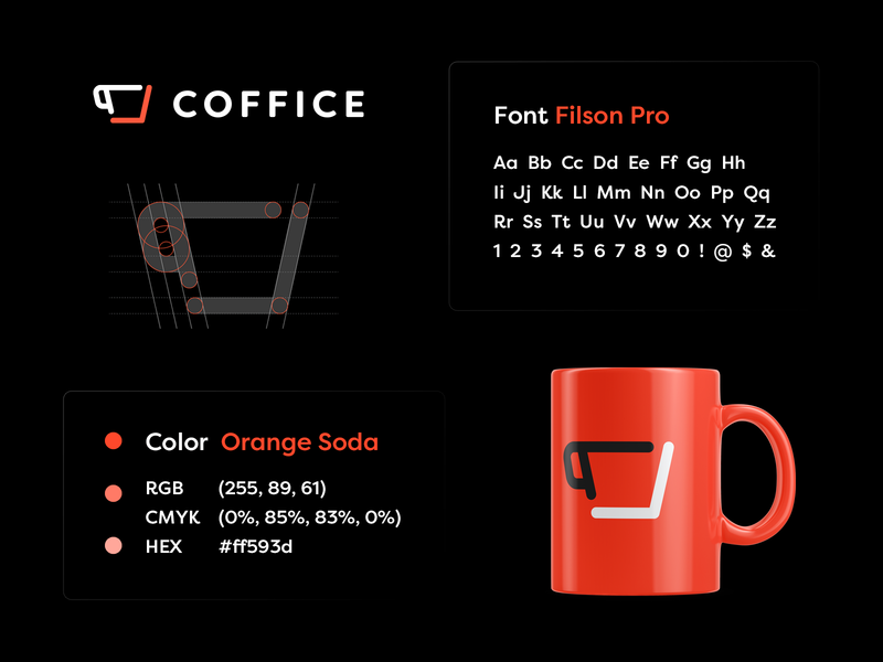 Coffice - Brand overview branding design coworking cafe coffee logo grid branding style guide brand guidelines brand overview branding studio brand identity brand design logo designer smart logos branding identity design smart logo logo logo design
