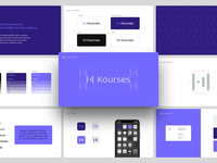 Kourses - Brand Guidelines k icon startup branding startup logo purple logo identity design brand and identity brand identity design smart by design branding studio smart logos logo icon branding identity design smart logo logo design brand guideline brand guidelines brand identity brand design