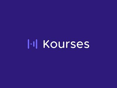 Kourses - Logo Animation logotype k icon smart logo identity k logo branding branding studio brand identity logo design motion graphics motion design animated logo animation animated animated gif logo animation