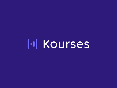 Kourses - Logo Animation logotype k icon smart logo identity k logo branding branding studio brand identity logo design motion graphics motion design animated logo animation animated animated gif logo animation