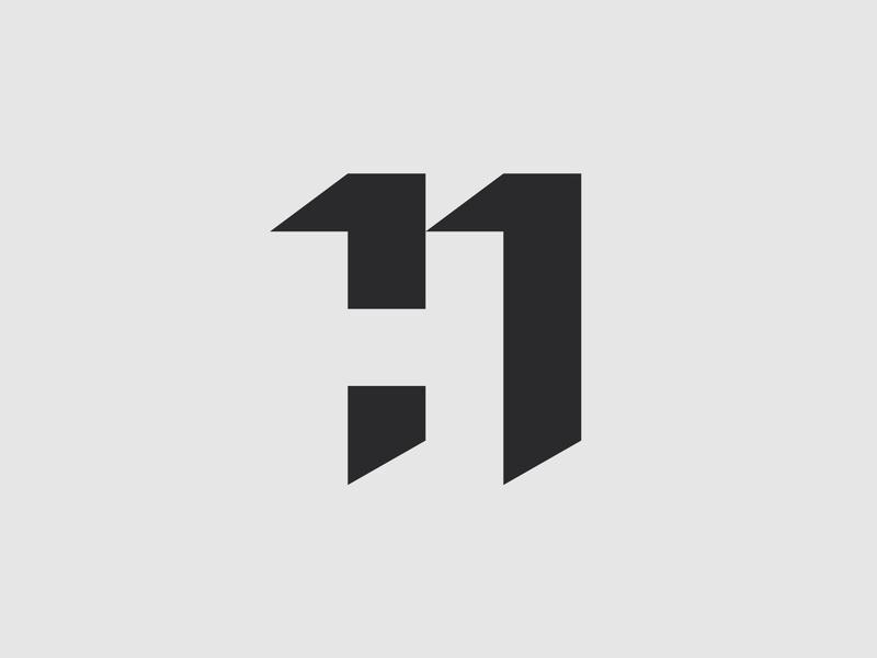 H11 - Negative Space Logo branding design fintech fintech branding brand identity brand design iconic logo icon design smart logos clever logo branding icon identity design smart logo logo design logo icon h11 11 h negative space