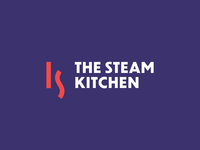 The Steam Kitchen brand identity steam icon identity design branding studio brand identity restaurant steam logo steam sk ks ks logo ks monogram logo designer logo icon branding icon identity design smart logo logo logo design