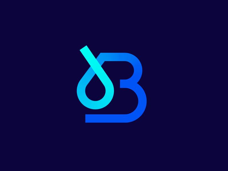 B OIL blue logo design branding studio graphic design letter b identity design logo smart logo branding brand design branding design gradient icon gradient logo b icon b logo oil logo logo design gasoline gas oil